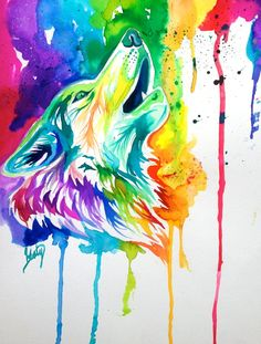 Colorful Wolf by Lucky978.deviantart.com on @deviantART
