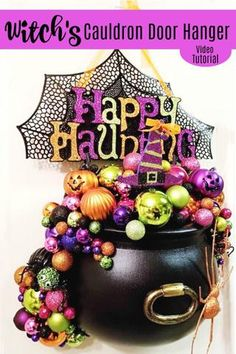 How to Make a Witch's Cauldron Door Hanger – South TX Creations