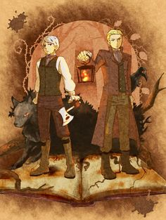 Germany and Prussia as the brothers Grimm