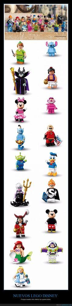 NUEVOS LEGO DISNEY - Porque nuestro niño interior los quiere todos   Gracias a http://www.cuantarazon.com/   Si quieres leer la noticia completa visita: http://www.estoy-aburrido.com/nuevos-lego-disney-porque-nuestro-nino-interior-los-quiere-todos/