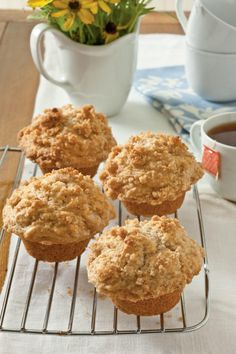 Rise and Shine Breakfast Recipes: Applesauce Muffins with Cinnamon Streusel Topping