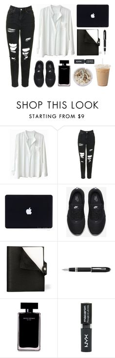 """""""Office outfit"""" by baludna ❤ liked on Polyvore featuring Topshop, NIKE, Hermès, Fountain, Narciso Rodriguez and Ash"""