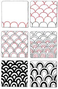 feathers tangle pattern