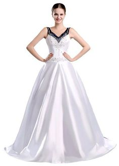FairOnly Custom Made V-neck Wedding Dresses Bridal Gown Size 6 8 10 12 14 16++