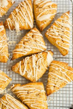 Sweet Potato Scones with Maple Cream Glaze.