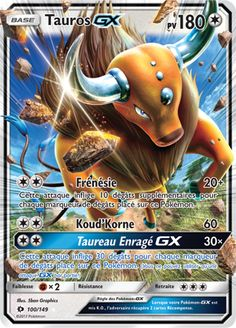 Tauros GX - SM Base Set, Pokemon - Online Gaming Store for Cards, Miniatures, Singles, Packs & Booster Boxes Pokemon Rayquaza, Pokemon Toy, Cool Pokemon, Charizard, Full Art Pokemon Cards, Pokemon Tcg Cards, Nouveau Pokemon, Rage, Pokemon Online