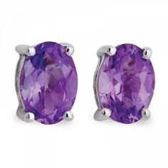 Riddle's Jewelry Ladies Amethyst Earring in Sterling Silver (05235252)