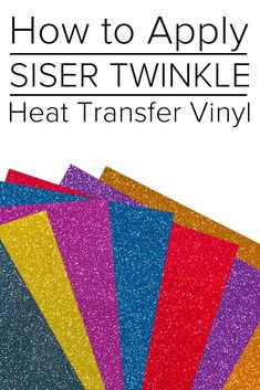 In this short video tutorial, we will show you how to use the Siser Twinkle Vinyl. Cricut Craft, Heat Transfer Vinyl, Twinkle Twinkle, Silhouette Cameo, How To Apply, Tutorials, Craft Ideas, Crafts, Manualidades