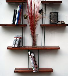 Industrial looking shelving unit by BLworkshop on Etsy