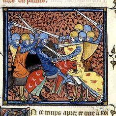Ebroin. Chroniques de France Ou de St Denis. Origem: França, Central (Paris). Data: depois de 1332, antes de 1350  Medieval Imago & Dies Vitae Idade Media e Cotidiano