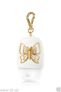 Body Care & Home Fragrances You'll Love - Gold Butterfly – PocketBac Holder – Bath & Body Works – A beautiful butterfly! Bath Body Works, Bath N Body, Alcohol En Gel, Hand Sanitizer Holder, Bath And Bodyworks, Perfume, Girly Things, Best Makeup Products, Body Care