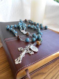 The Saint Maximilian Kolbe Rosary by DULCIUSdesign on Etsy