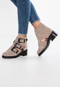 6b20f7770f8c9 Zapatos para mujer Botas Tacón ancho Botines con cordones Ital ...