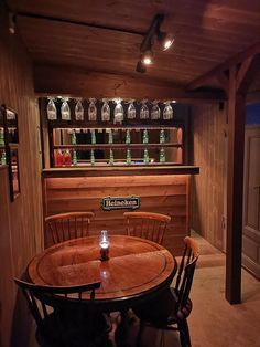 Built a tiny pub in my shed, first time doing carpenter work without the help from my grandpa. Home Bar Rooms, Diy Home Bar, Home Pub, Bars For Home, Man Shed Interior Ideas, Pub Interior, Restaurant Interior Design, Modern Restaurant, Restaurant Furniture