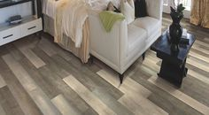 Artfully Designed - Aged Cabin by Mohawk Flooring is a thick) laminate flooring. Mohawk treated us to a random pattern with this gorgeous design. Wood Laminate, Laminate Flooring, Hardwood Floors, Mohawk Flooring, Carpet Flooring, American Houses, Floor Design, Tile Floor, Bedroom Decor