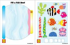 Kids printable crafts fishbowl craft with free printable by worksheets for grade 1 science .
