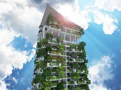 O maior jardim vertical do mundo! Clearpoint Tower