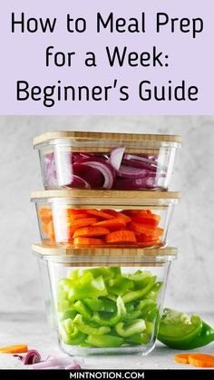 How to meal prep for a week. Great meal prepping ideas for weight loss. Learn how to make 5 dinners in under an hour with these beginner's meal prep tips. Healthy meal prep ideas.