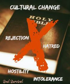 """""""Are you preparing to live in a hostile culture?"""" September 9 - We are living in a world that is becoming more and more dangerous and a culture that is increasingly hostile to Christ and Christianity. Religious freedom and tolerance have been replaced with intolerance and even hatred. Violence, from outside and inside our nation, is almost commonplace. How are you preparing to live in a dangerous and hostile culture? Soul Survival"""