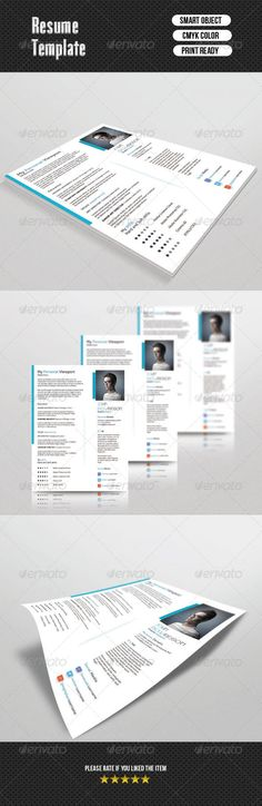 Resume with cover letterCV-006 by TemplateStock on Etsy Resume - 1 page resume