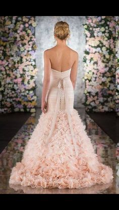 Gorgeous pink wedding gown
