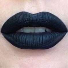 Okay we get questions about matte black lipstick literally every day so here is one for you to try. Pretty Zombie Cosmetics. Vegan. Liquid to matte finish. $12. Go forth. (Swatch from here)