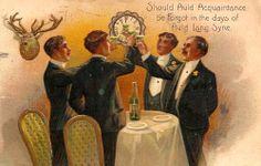 Auld Lang Syne Vintage Postcard Greetings