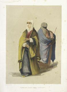 Turkish Lady and Servant (1854)