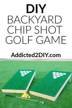 Backyard games 711076228653091171 - Learn how to make your own DIY chip shot golf game. It's a fun backyard game that you can enjoy with the whole family. For the grown-ups, you can even turn it into a fun game of beer pong golf! Source by gavinkanack Diy Yard Games, Lawn Games, Backyard Games, Backyard Projects, Outdoor Games, Outdoor Projects, Outdoor Fun, Backyard Decorations, Diy Games
