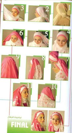 adorable pink and white rosebud hijab tutorial