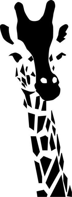 Giraffe Stencil: paint, sponge, embellish fabric, wood for wall art or box Stencil Animal, Stencil Art, Stencil Patterns, Stencil Templates, Stencil Designs, Silhouette Projects, Art Plastique, String Art, Clipart