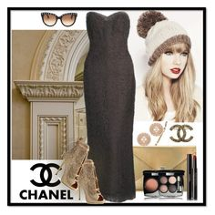 """""""Classic Chanel"""" by leanne-laviolette ❤ liked on Polyvore featuring Chanel, Valentino, Karl Lagerfeld and Giuseppe Zanotti"""