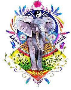#tattoo #tatuagem #ink #inked #bodymodification #alineymarques #drawing #illustration #elephant #yinyang #indian