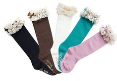 Ema Jane - Cute Girl Knee High Victorian Soft Boutique Quality Lace Socks Pack) Perfect for Girls Ages 4 to 10 - Fit for a Princess - - Product Description: Cute 5 pack of g Baby Girl Socks, Girls Socks, Vintage Lace, Retro Vintage, Victorian Lace, Vintage Kids, Vintage Cotton, Lace Boot Socks, Cream Boots