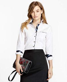 5edc1736 Brooks Brothers BB#1-Trimmed Nine-to-Nine Stretch-Cotton Poplin Shirt