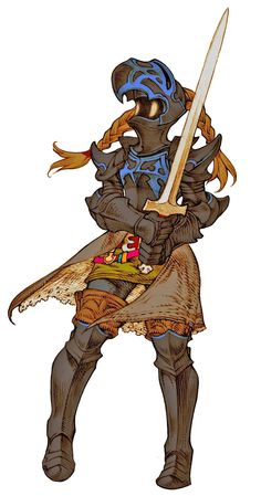 Dark Knight (Tactics) - The Final Fantasy Wiki has more Final Fantasy information than Cid could research, FFTWLDarkKnightFemale.png