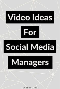 Video Ideas for Social Media Managers — Trena Little Video Content Strategist The best way to grow your authority and audience is to create video content! But what should you talk about? In this video I'm providing social media managers 3 video ideas Marketing Quotes, Marketing And Advertising, Online Marketing, Social Media Marketing, Marketing Ideas, Content Marketing, Marketing Strategies, Digital Marketing, Social Media Packages