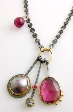 Rose Cluster necklace   Sydney Lynch