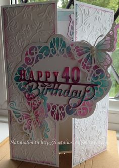 40th birthday, gatefold card