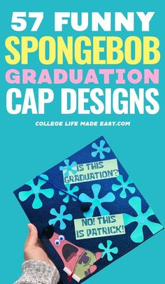 If you need funny graduation quote ideas, Spongebob is the ultimate inspiration. Here are the best spongebob graduation caps we found online. Graduation Quotes Funny, Funny Graduation Caps, Graduation Cap Designs, Graduation Cap Decoration, College Graduation, Graduation Ideas, Best Friend Poems, Spongebob, Funny Grad Cap Ideas