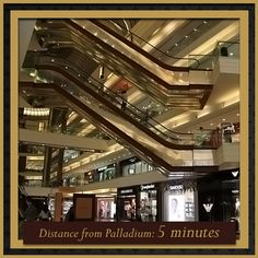 Nothing beats living minutes away from the city's best luxury shopping mall! From Gucci to DKNY, it's a shopper's paradise at Palladium!