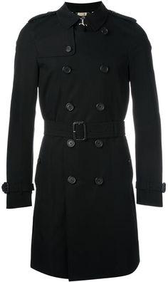 Burberry The Kensington - Long Trench Coat - Black Double Breasted Trench Coat, Long Trench Coat, Man's Overcoat, Kensington, Burberry Classic, Burberry Prorsum, Burberry Men, Menswear, How To Wear