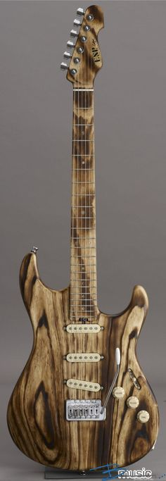 ESP Snapper All Ash Burner Strat -type Electric Guitar Love the natural finish with the burnt wood grain. Don't think I'd want to make the whole guitar put of ash though.
