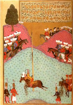 Murad II at target shooting with arrows