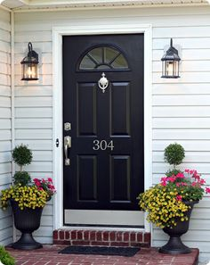 Perfect BM glossy black shade for front door? - Home Decorating & Design Forum - GardenWeb