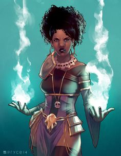 Superheroes In Full Color: Rat Queens (Dee) - Art by Jamal Campbell