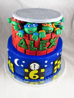 ninja turtles cake | Teenage Mutant Ninja Turtles Birthday Cake!