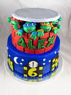 ninja turtles cake | Teenage Mutant Ninja Turtles Birthday Cake!
