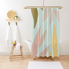 Elegant Shower Curtains, Custom Shower Curtains, Curtain Material, Curtain Fabric, Boho Bathroom, Geometric Lines, Easy Install, Pattern Art, Line Art