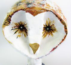 Owl  Paper Mache   Animal Sculpture by TheWhatNaught on Etsy, $29.00